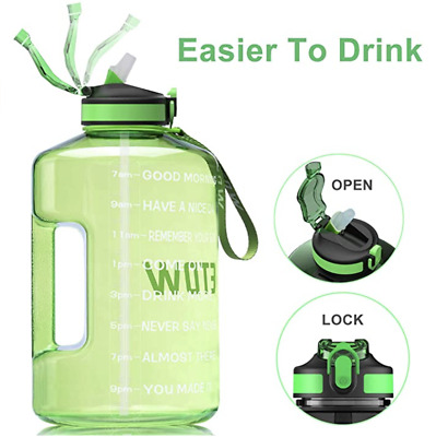 £20.32 • Buy ETDW Gallon Water Bottle With Straw Cleaning Brush, 3.78Litre Large Water Jug Up