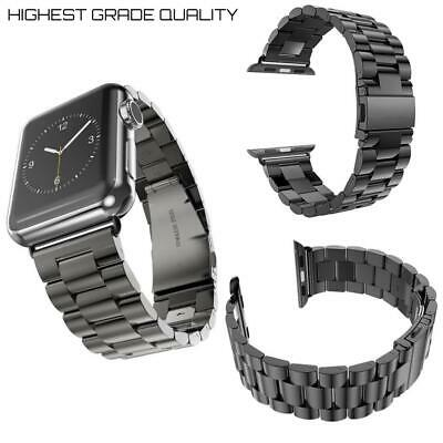 $ CDN27.77 • Buy For APPLE Watch SERIES 2 3 4 6 STAINLESS STEEL Metal BAND 42mm / 44mm SPACE GRAY