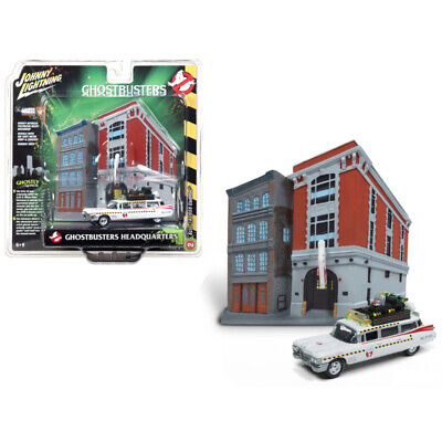 1959 Cadillac Ecto-1A Ambulance With Firehouse Exterior Diorama From Ghostbus... • 26.31£