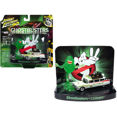 1959 Cadillac Ecto-1A Ambulance (Slimed) With Slimer Figurine Ghostbusters Mo... • 27.16£