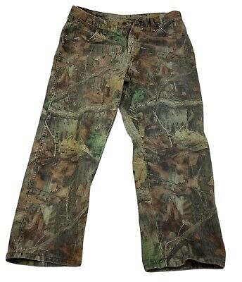 £25.65 • Buy Wrangler Jeans Rugged Wear Advantage Timber Camouflage Pants Size 38x30