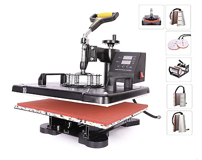 AU466.58 • Buy Multifunction 8-in-1 Heat Press Machine, 360 Swivel Sublimation Printer, 30x38cm
