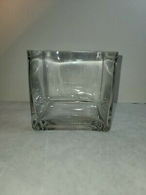 £6.39 • Buy Square Clear Heavy Glass 4x4 Cube Vase Box