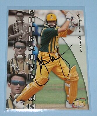 AU9.95 • Buy 1996 Futera All Rounders Mark Waugh Signed Cricket Card