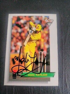 AU5 • Buy 1993 Futera Cricket Cards - Card No. 9 Signed By Mark Taylor