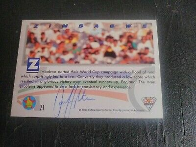 AU5 • Buy 1993 Futera Cricket Cards - Card No. 71 Signed By Dave Houghton