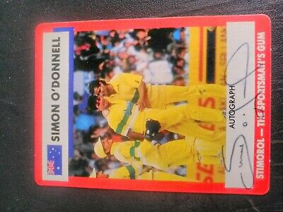 AU5 • Buy 1990-91 Stimorol Cricket Cards - Card No. 24 Signed By Simon O'Donnell