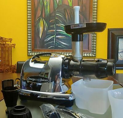 OMEGA J8006 Low Speed Masticating Juicer - Chrome Store Returned With New Parts • 125.22£