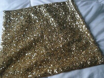 A Single Sequin Covered Cushion Cover - Lovely Sparkling Gold Colour • 1£