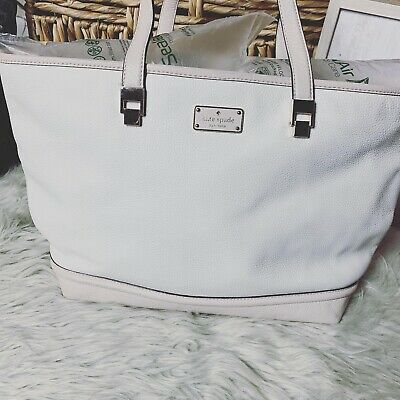 $ CDN94.93 • Buy Kate Spade Taren Oliver Street Cream Pebble Leather Tote Bag Purse