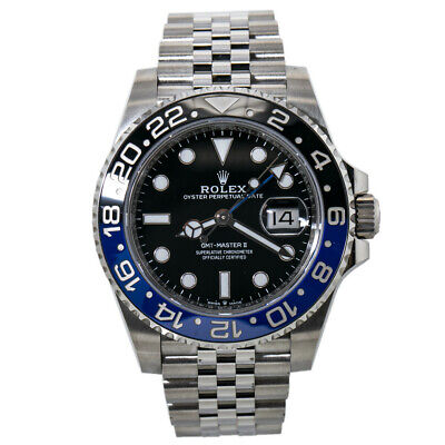 $ CDN20195.30 • Buy Rolex GMT Master II 126710 Batman Jubliee Black Dial Automatic Mens Watch 40mm