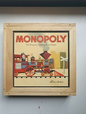 Monopoly Classic Board Game From Hasbro Gaming Wooden Box • 85£