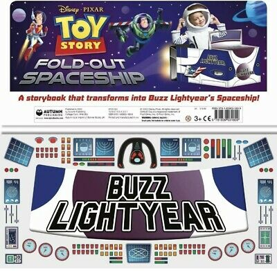Pixar Toy Story Fold-Out Hardback Spaceship Book Buzz Lightyear Book Toy RRP £12 • 5£