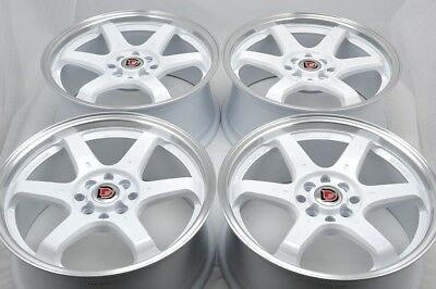 $539 • Buy 4 New DDR I5 17x7.5 4x100/114.3 38mm White/Polished Lip Wheels Rims
