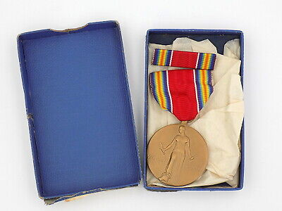 £17.72 • Buy Original WWII US Campaign & Service Medal Boxed W/ Ribbon Bar