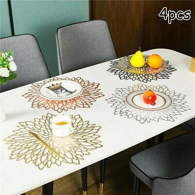 AU19.33 • Buy 4pcs Place Mats Washable Dining Wedding Party Birthday Table Placemats PVC