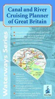 Canal And River Cruising Planner Of Great Britain (Waterwa By Heron Maps New Map • 7.17£