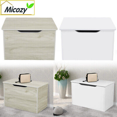 Storage Ottoman Chest Toy Box Bedroom Bedding Blanket Trunk Bench Wood Large • 34.98£