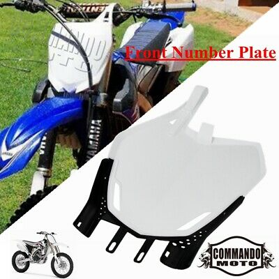 $17.70 • Buy Motocross Plastic Front Number Plate For Yamaha YZ125 YZ250 YZ250F YZ450F WR250F