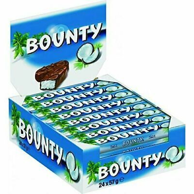 Bounty Milk ONLY 30p Chocolate Double Bars, Pack Of 12 Best Before 31/0121 • 3.60£