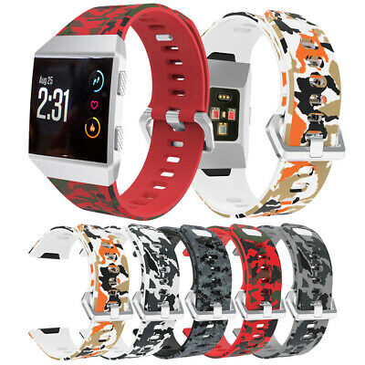 $ CDN10.53 • Buy Replacement Band Pattern Strap For Fitbit Ionic Wristband Metal Buckle Tracker