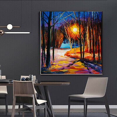 Leonid Afremov Oil Painting Trees Without Leaves Canvas Wall Art Picture Print • 8.99£