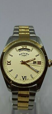 Rotary Men's Two Tone Champagne Dial Stainless Steel Bracelet Analogue Watch • 2.20£