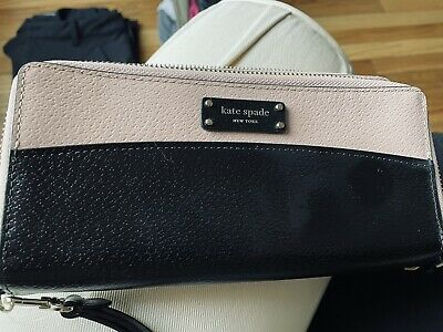 $ CDN61.87 • Buy Kate Spade Color Black  Pink & Black Large Zip Around Bifold Wallet NWT