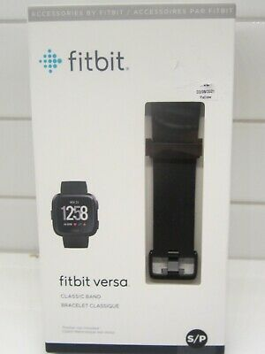 $ CDN12.67 • Buy Fitbit Versa Classic BAND ONLY Black Size Small/P Brand New AUTHENTIC