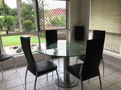 AU160 • Buy Glass Round 120 Dining Table With Lazy Susan.