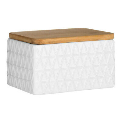 £11.75 • Buy Premier Housewares Butter Dish White With Bamboo Lid Modern Home Stylish