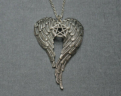 AU0.68 • Buy Necklace Pentagram Angel Wings Vintage Pendant Jewelry For Men And Women