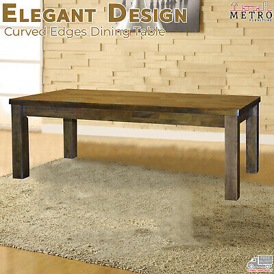 AU856 • Buy New Dining Table 6 And 8 Seater Kitchen Tables Rubberwood Veneer Cafe Restaurant