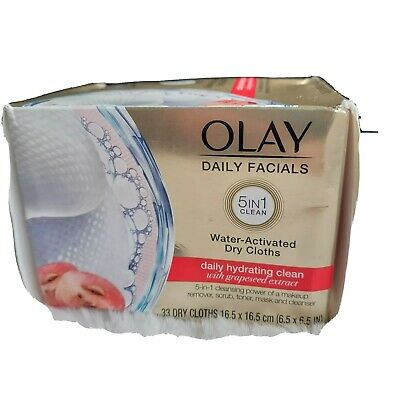 AU16.70 • Buy Olay Daily Facials Hydrating Cleansing Cloths With Grapeseed Extract 33 Count
