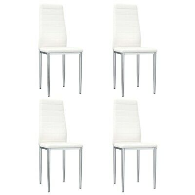 AU180.95 • Buy VidaXL Dining Chairs 4 Pcs White Faux Leather