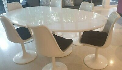 AU99 • Buy 8 Seater White Replica  Eames  Oval Fiberglass Dining Table And Chairs