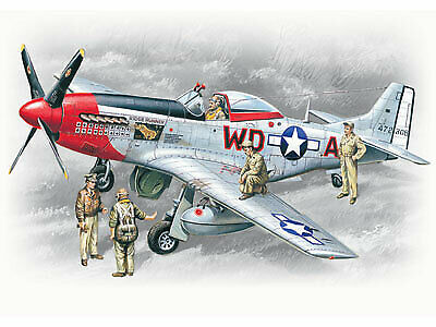 ICM48153 - ICM 1:48 - Mustang P-51D W/ USAAF Pilots/Ground Personnel • 15.99£