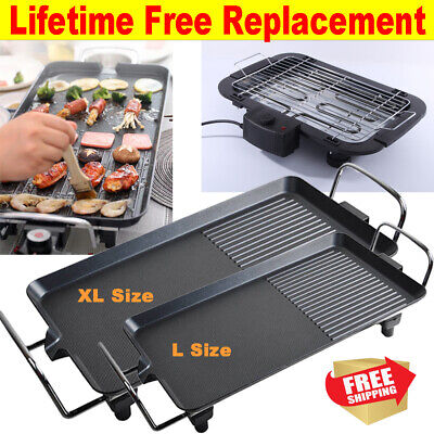 £23.84 • Buy Electric Large Size Teppanyaki Grill Barbecue Table Top Griddle Party Indoor Use
