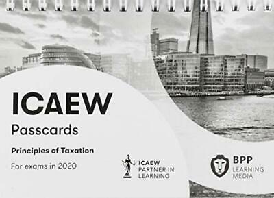 ICAEW Principles Of Taxation: Passcards New Spiral-bound Book • 13.90£