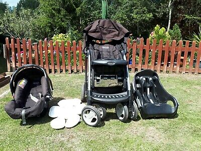 Graco Quattro Tour Deluxe Oxford Travel System, With Car Seat And Base • 15£