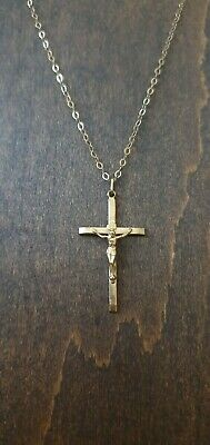 £180 • Buy 9ct Yellow Gold Crucifix Pendant With 20  Trace Chain - Boxed