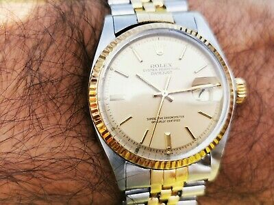 $ CDN3615.80 • Buy Rolex Datejust 36mm 1601 Champagne Dial 1570 Two Tone