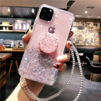 AU12.99 • Buy For IPhone 12 11 Pro Max XS XR 6 7 8 Glitter Sparkle Bling Case Cover W/ Holder