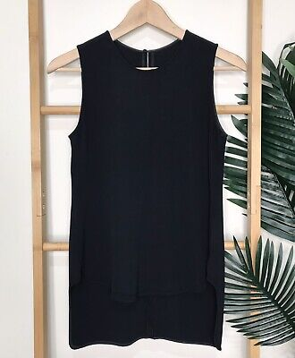 AU49 • Buy Scanlan Theodore Navy Tank Top Size XS Woven Sleeveless Keyhole Casual Womens