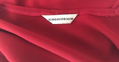 AU10 • Buy Scanlan Theodore Vintage Red Silky Asymmetrical Top Sz 1 10 Small