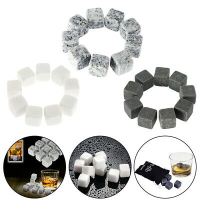 £6.25 • Buy 9Pcs Gin Stones Chilling Rocks Ice Cubes Drinks Beverage Cooler Whiskey Reusable