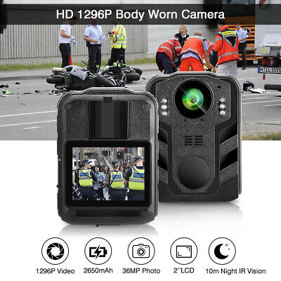 1296P Body Worn Camera Security Monitor Night Vision Recorder For Protection #UK • 79.74£