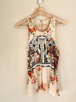 AU25.50 • Buy Alice Mccall Embroidered Sleeveless Floral Top Size 10