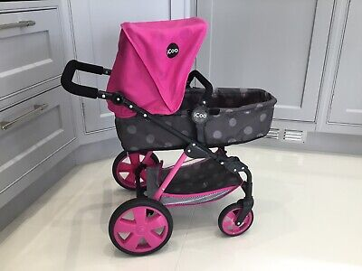 Icoo 3 In 1 Doll Stroller With Adjustable Handles • 9£