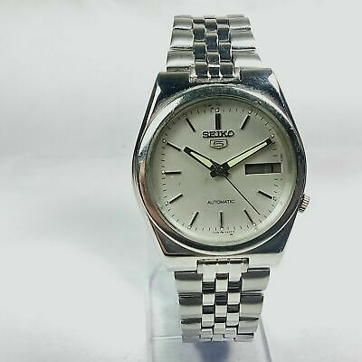 $ CDN29.89 • Buy Vintage Seiko Automatic Movement Analog Day Date Dial Mens Wrist Watch AD260